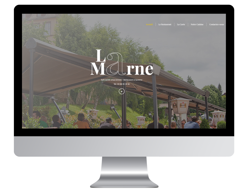 laMarne exemple site web developpement activite