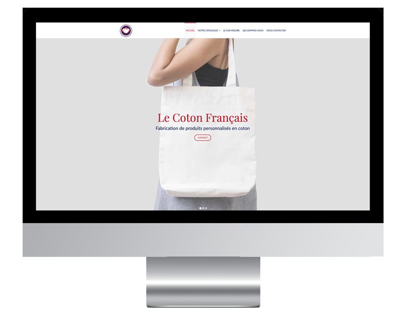 Exemple site web cle main coton francais