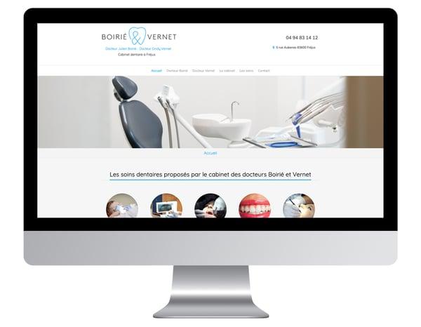 Exemple site internet pro sante dentiste