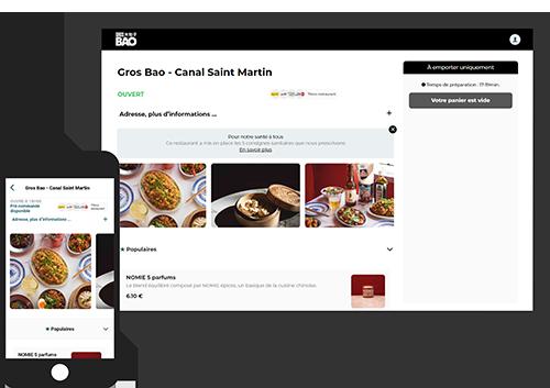 illustration outil click & collect restaurant