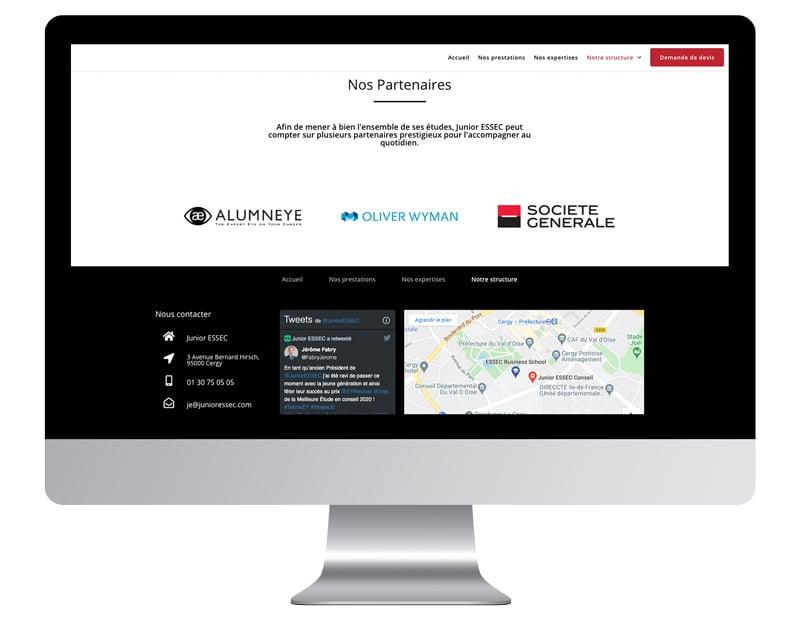 Exemple partenaire sur site internet vitrine