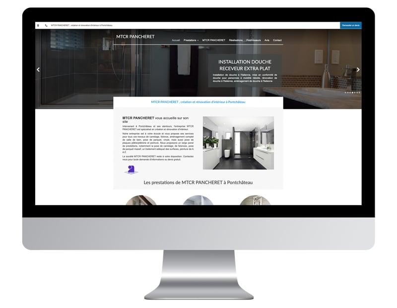 Exemple site internet auto-entrepreneur carreleur