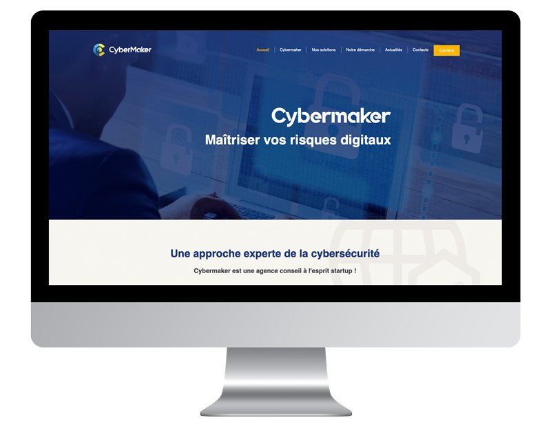 CyberMaker exemple site internet professionnel