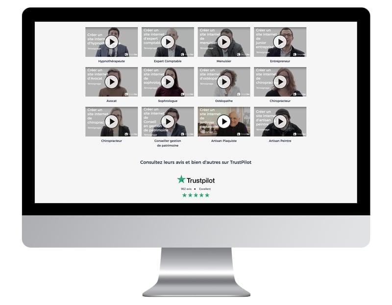 exemple avis clients améliorer site internet