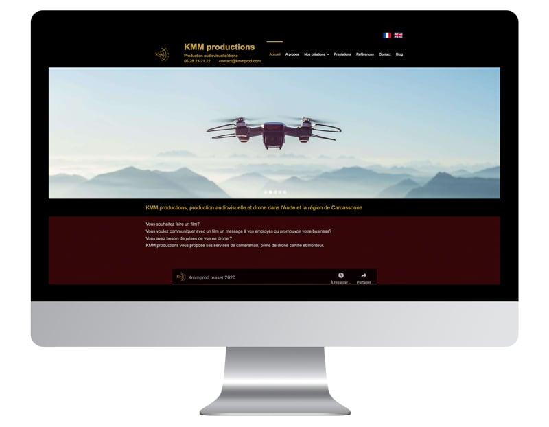 exemple site internet autoentrepreneur KMMprod