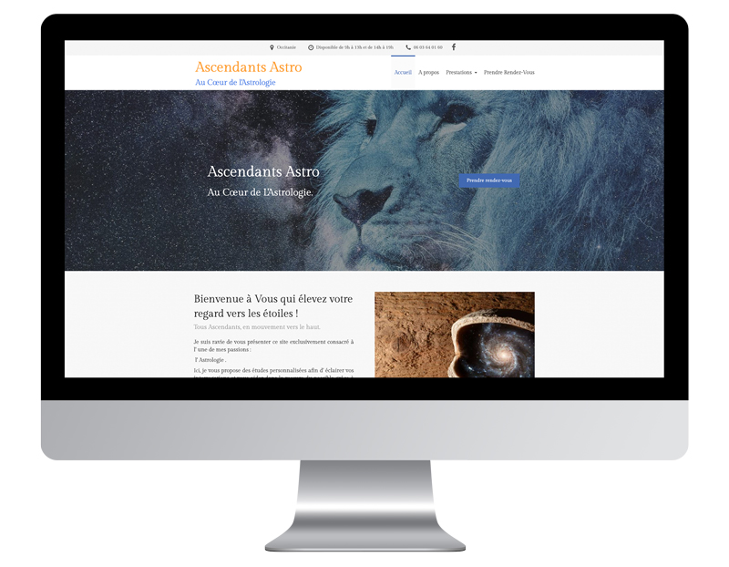 exemple site web autoentrepreneur astro