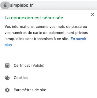 Exemple HTTPS SSL site internet sécurisé