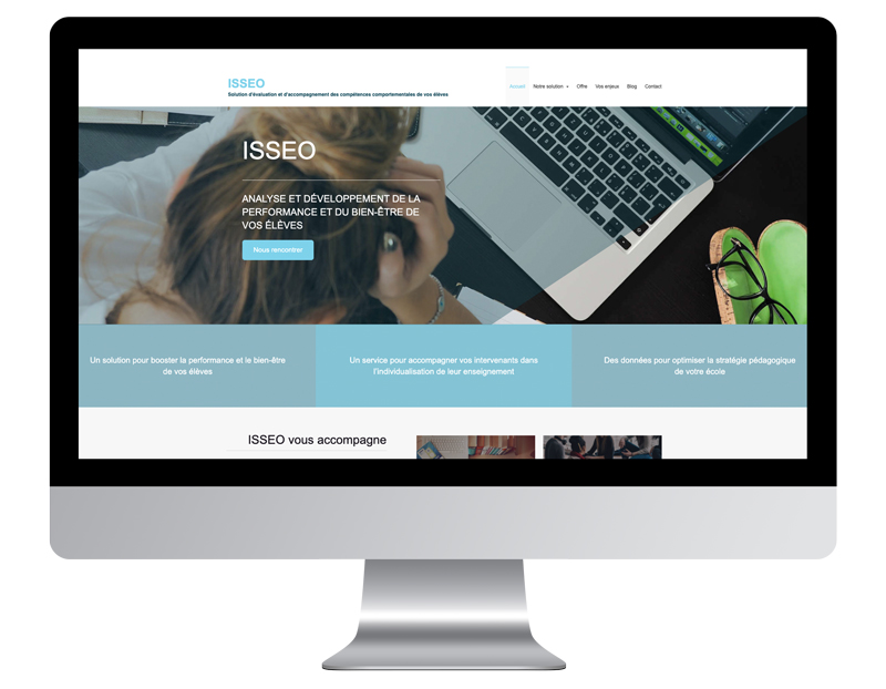Image ordinateur ISSEO exemple meilleur site internet de coach