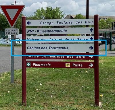 panneau signalisation cabinet paramedical