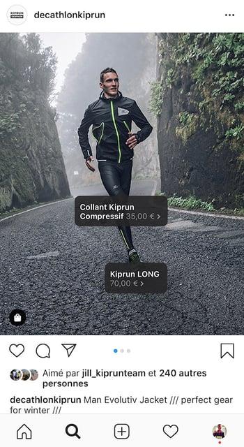 compte professionnel instagram decathlon