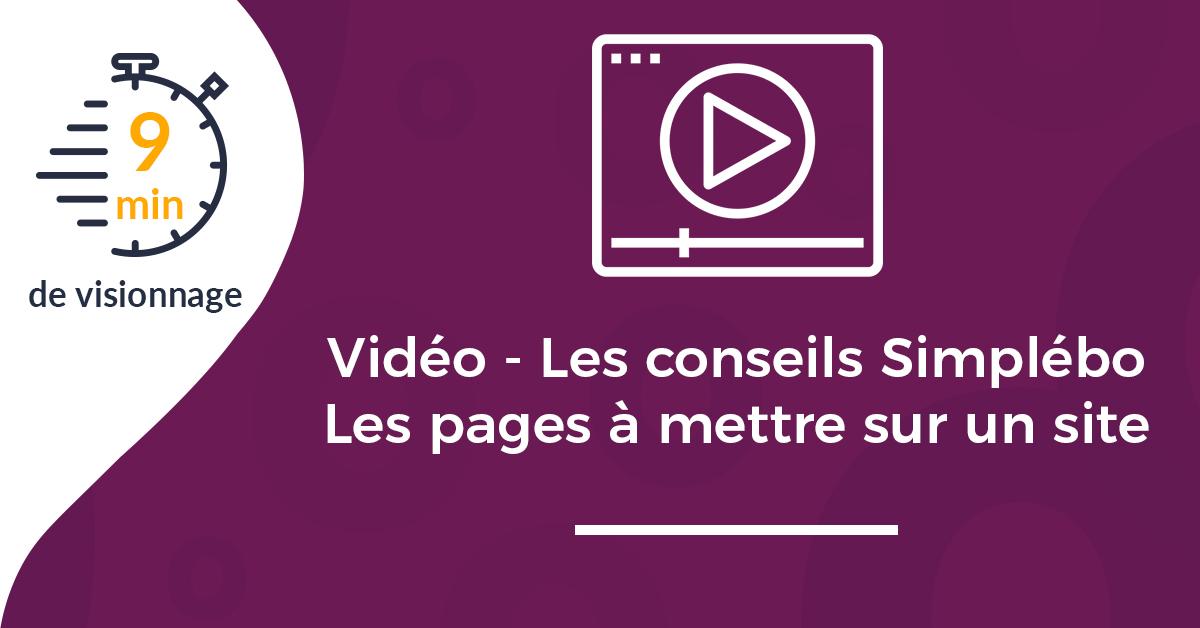 Image article vidéo conseils pages indispensables site web