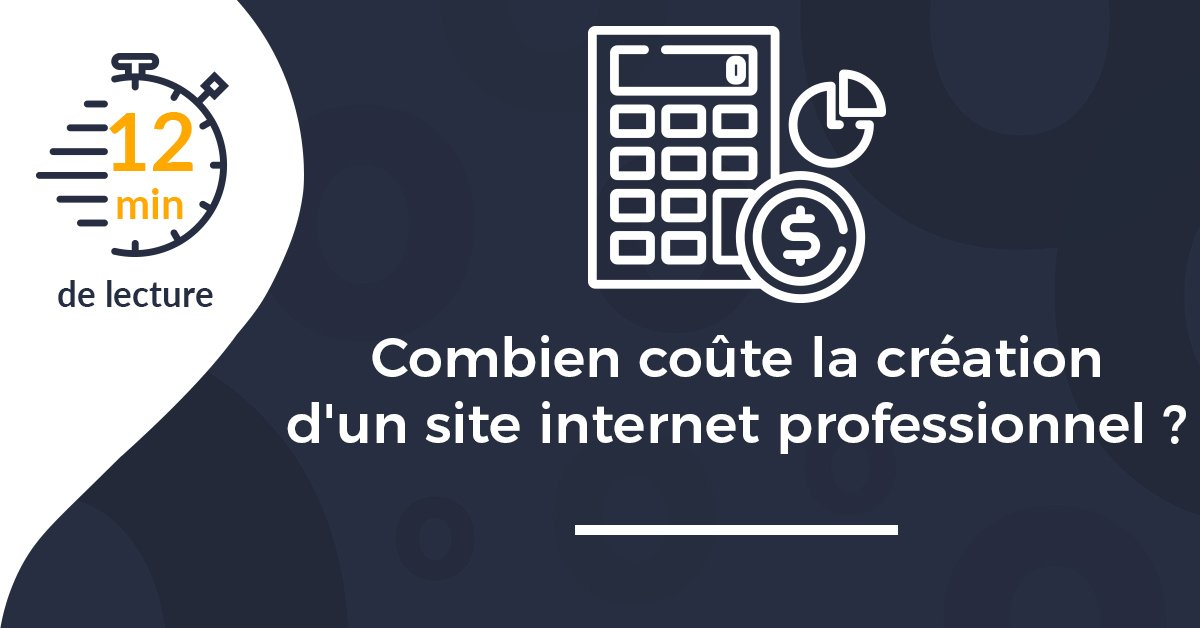 Une article combien coute creation site internet pro