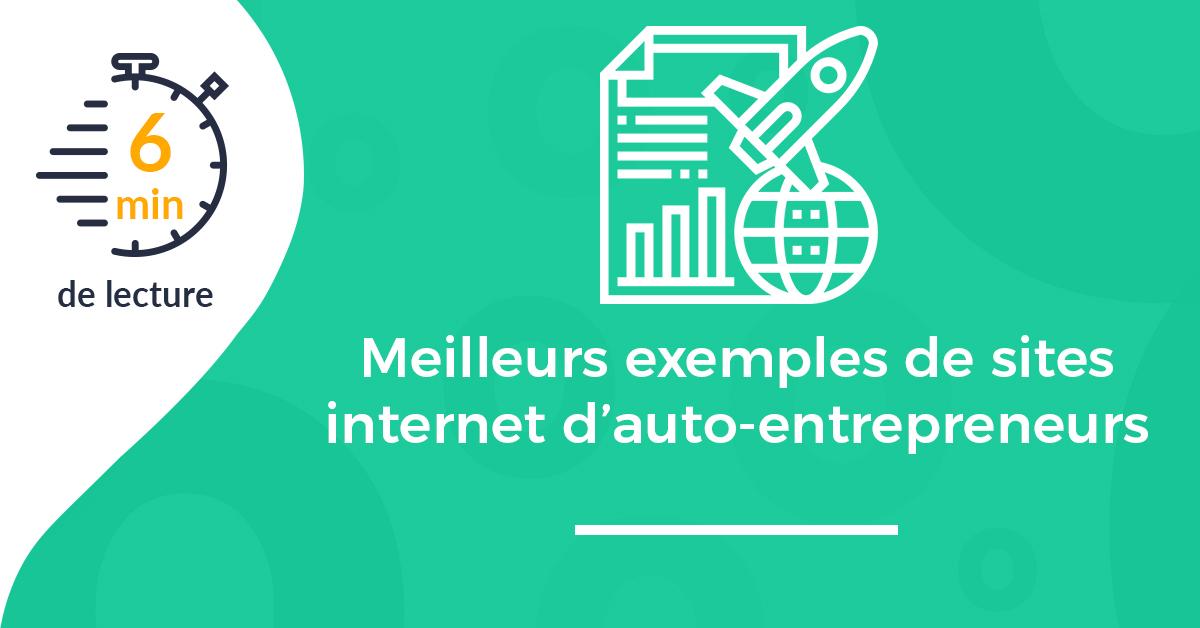 Meilleurs exemples de sites internet d'auto-entrepreneurs