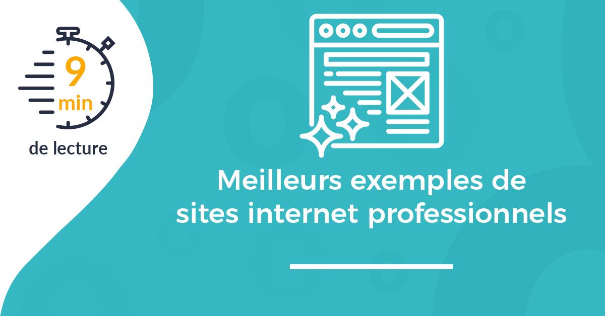 Meilleurs exemples de sites internet professionnels