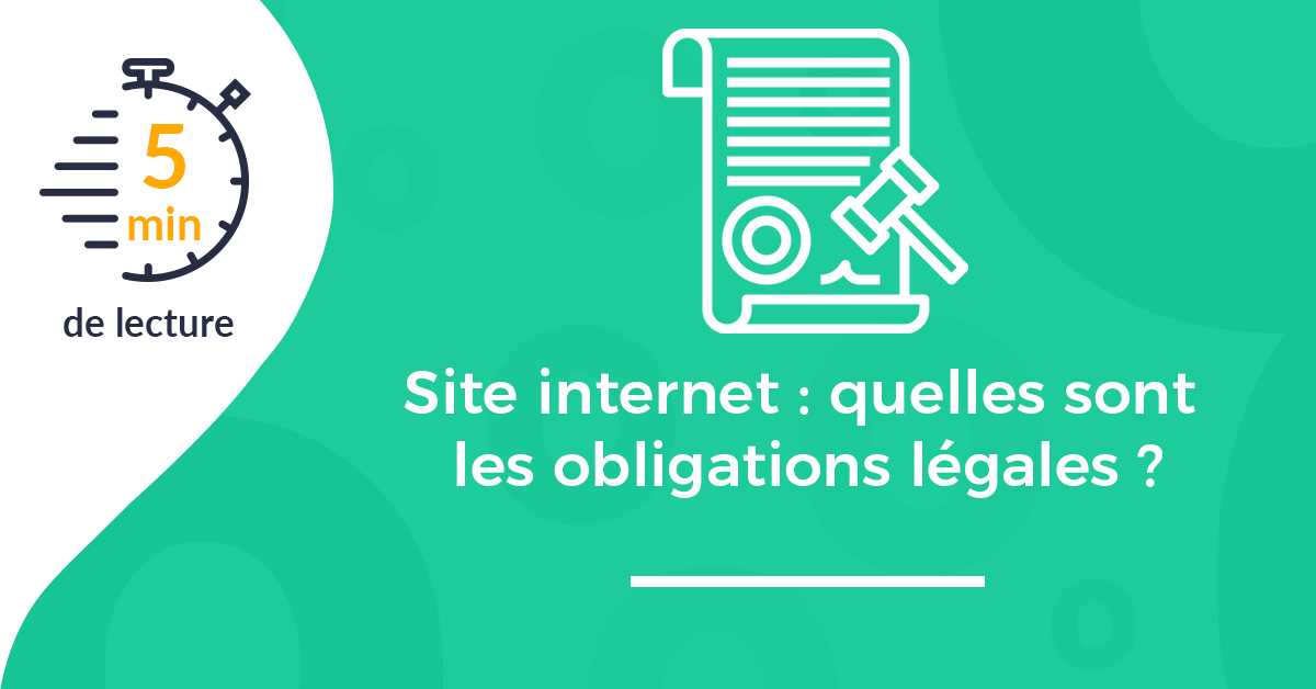 Une article obligations légales site internet
