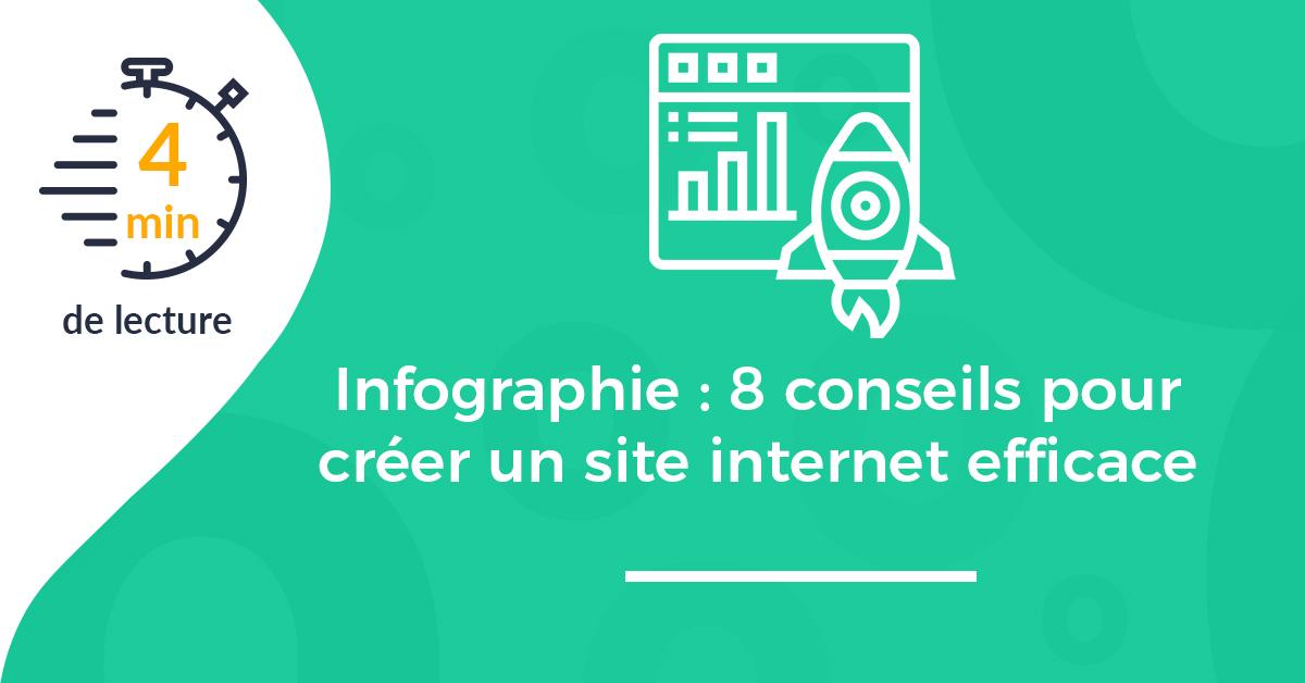 Infographie : 8 conseils pour créer un site internet efficace