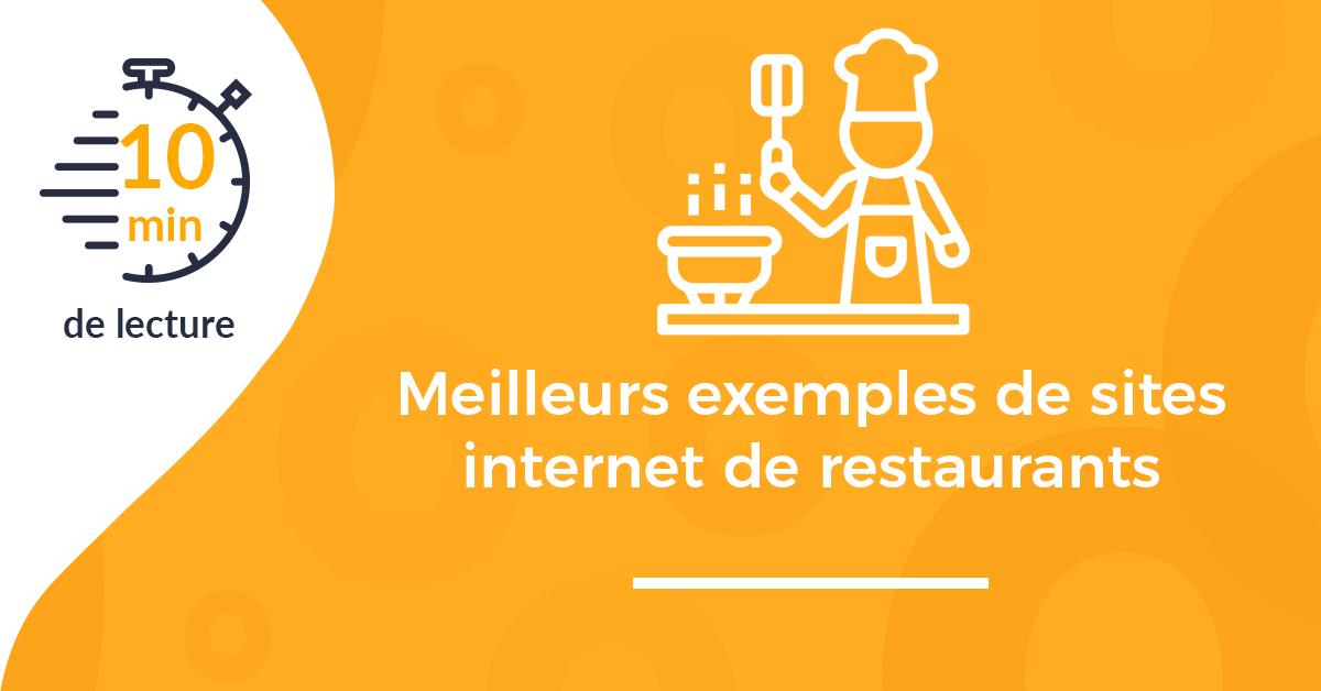 Meilleurs exemples de sites internet de restaurants