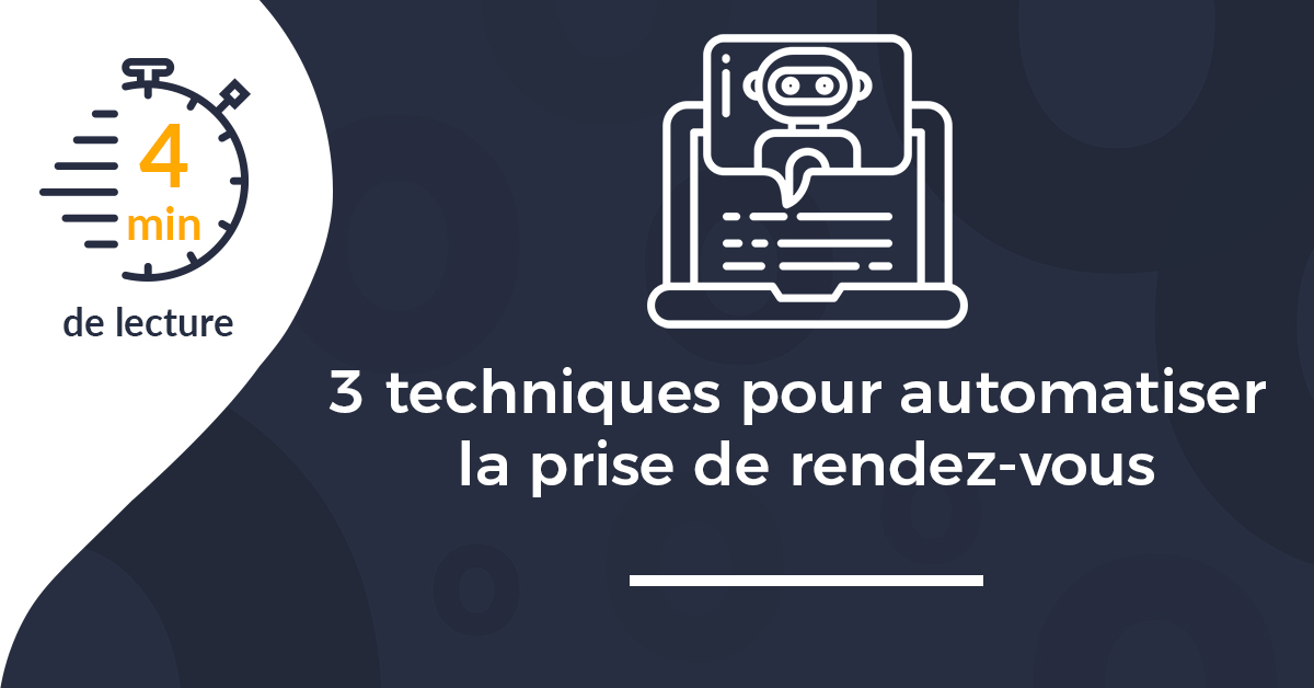 3 techniques pour automatiser la prise de rendez-vous sur votre site vitrine