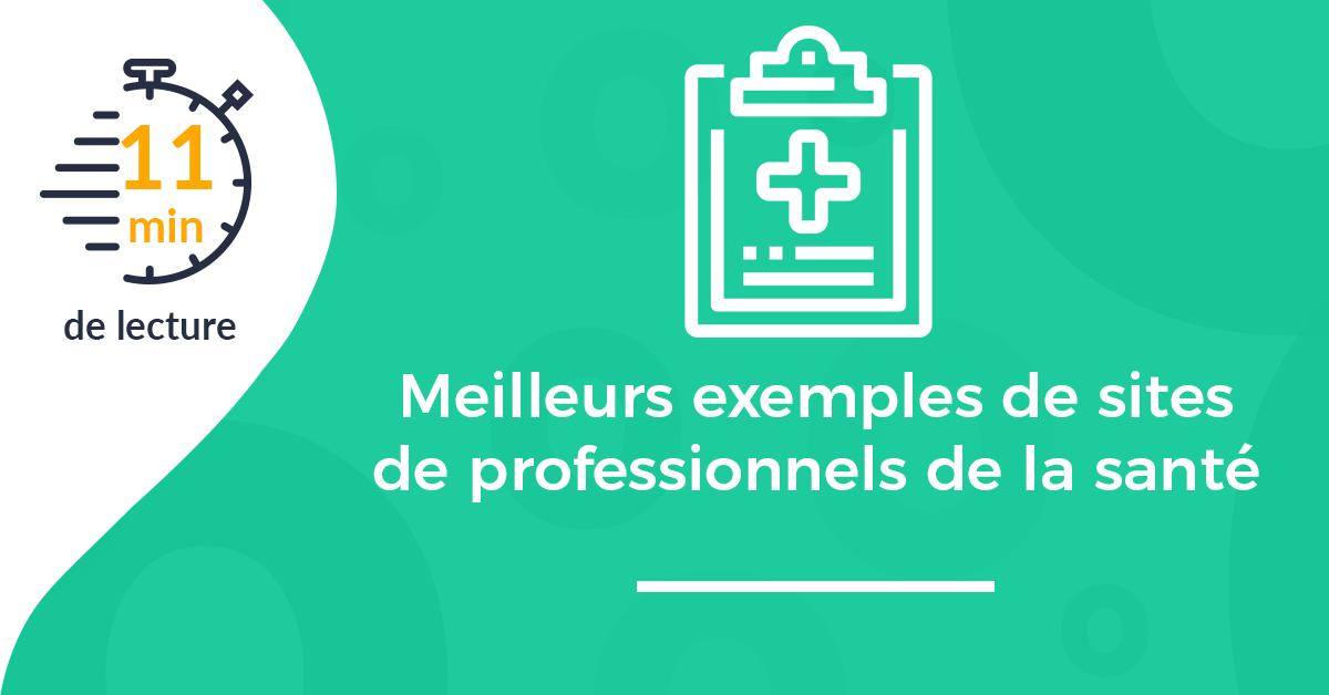Meilleurs exemples de sites internet de professionnels de la santé