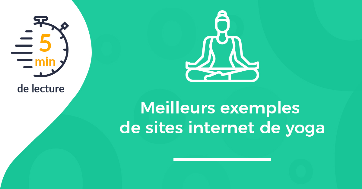 Une article exemples sites internet yoga