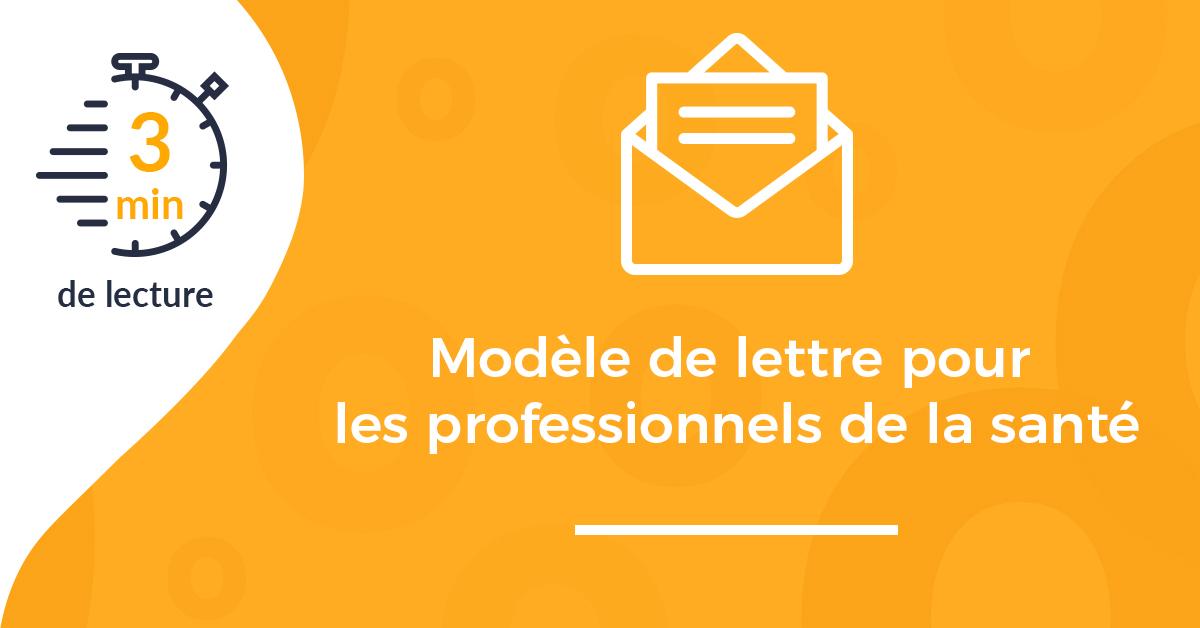 Modèle de lettre de présentation pour les professionnels de la santé