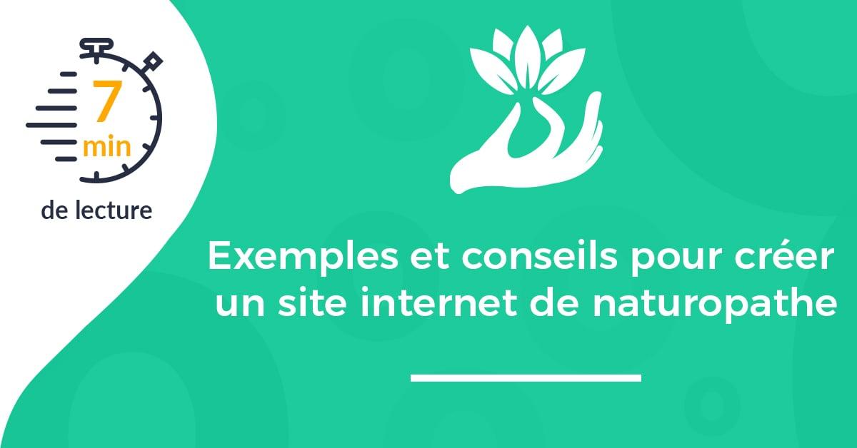 Exemples et conseils pour créer un site internet de naturopathe